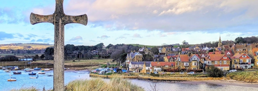 Looking towards Alnmouth in Northumberland just before Christmas 2019.